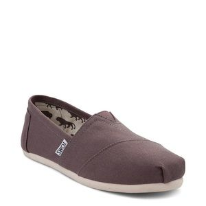 Toms canvas classic ash gray slip on shoes